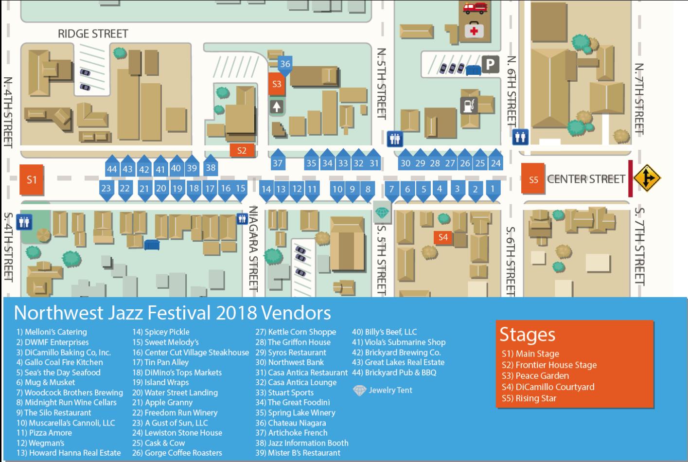 Festival Vendors | Lewiston Jazz Festival